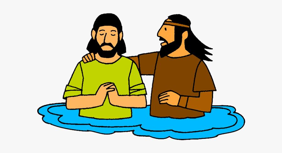 Jesus Being Baptised Cartoon, Transparent Clipart