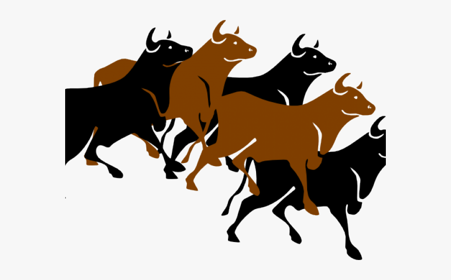 Running Of The Bulls Clipart, Transparent Clipart