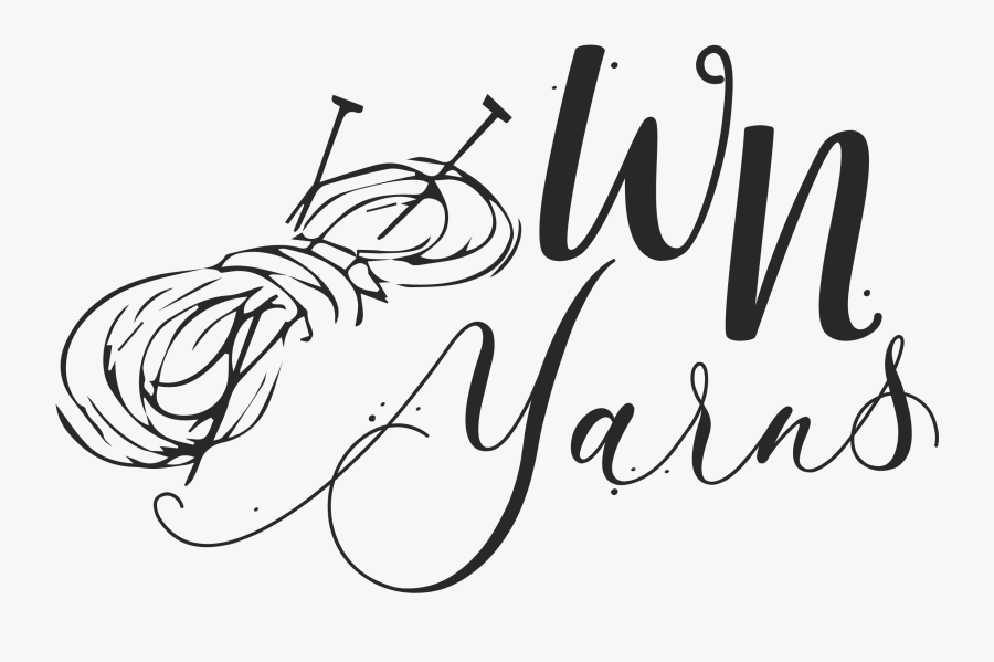 Wn Yarns - Calligraphy - Line Art, Transparent Clipart