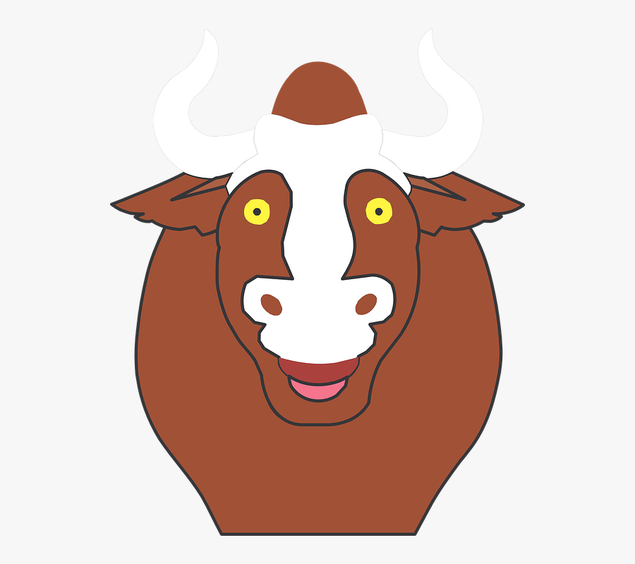 Bull Cartoon Image 12, Buy Clip Art - Cartoon Bull Without Horns, Transparent Clipart