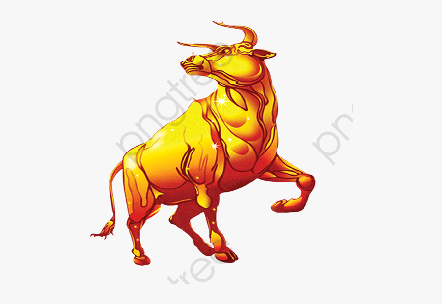 Bull Clipart Strong - Gold Bull Png, Transparent Clipart