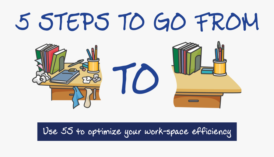 Career Tips Organizing Cleaning - Tidy Up Your Desk Clipart, Transparent Clipart
