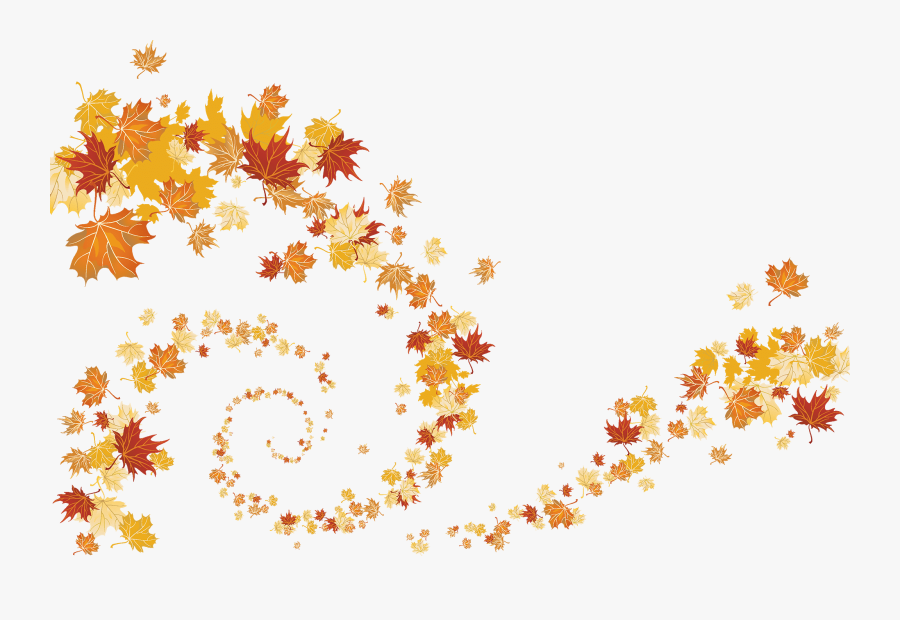 Watercolor Fall Leaves Png, Transparent Clipart