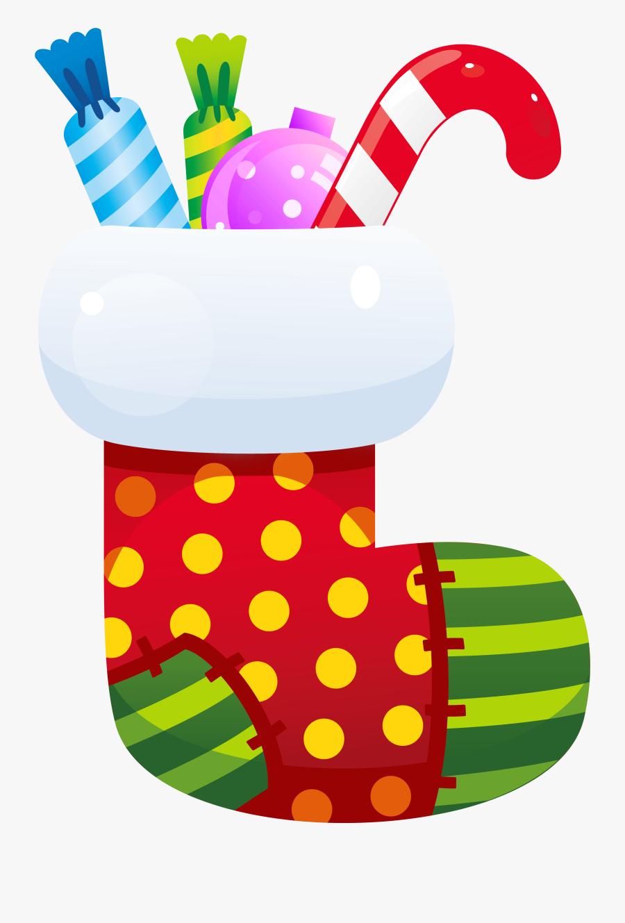 Socks Clipart Xmas - Transparent Christmas Stocking Clipart, Transparent Clipart