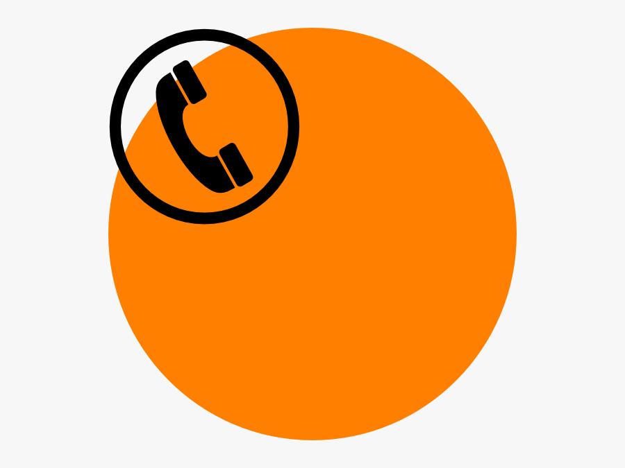 Orange Telephone Svg Clip Arts - Phone Number Icon Png, Transparent Clipart