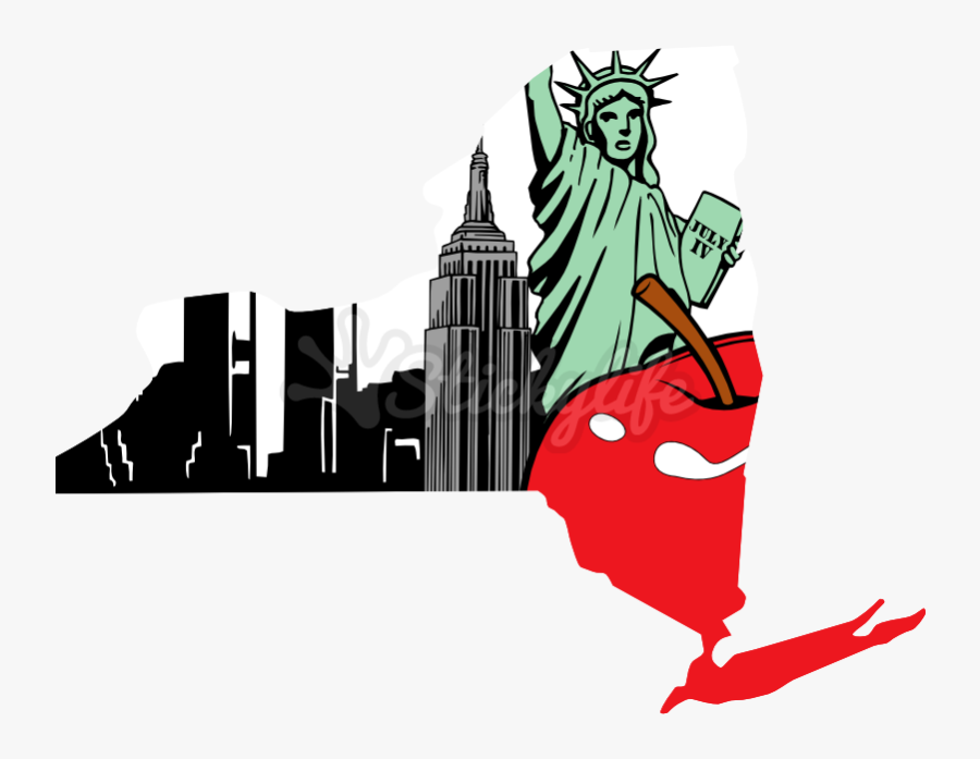 New York State Decal - Map Of New York State, Transparent Clipart