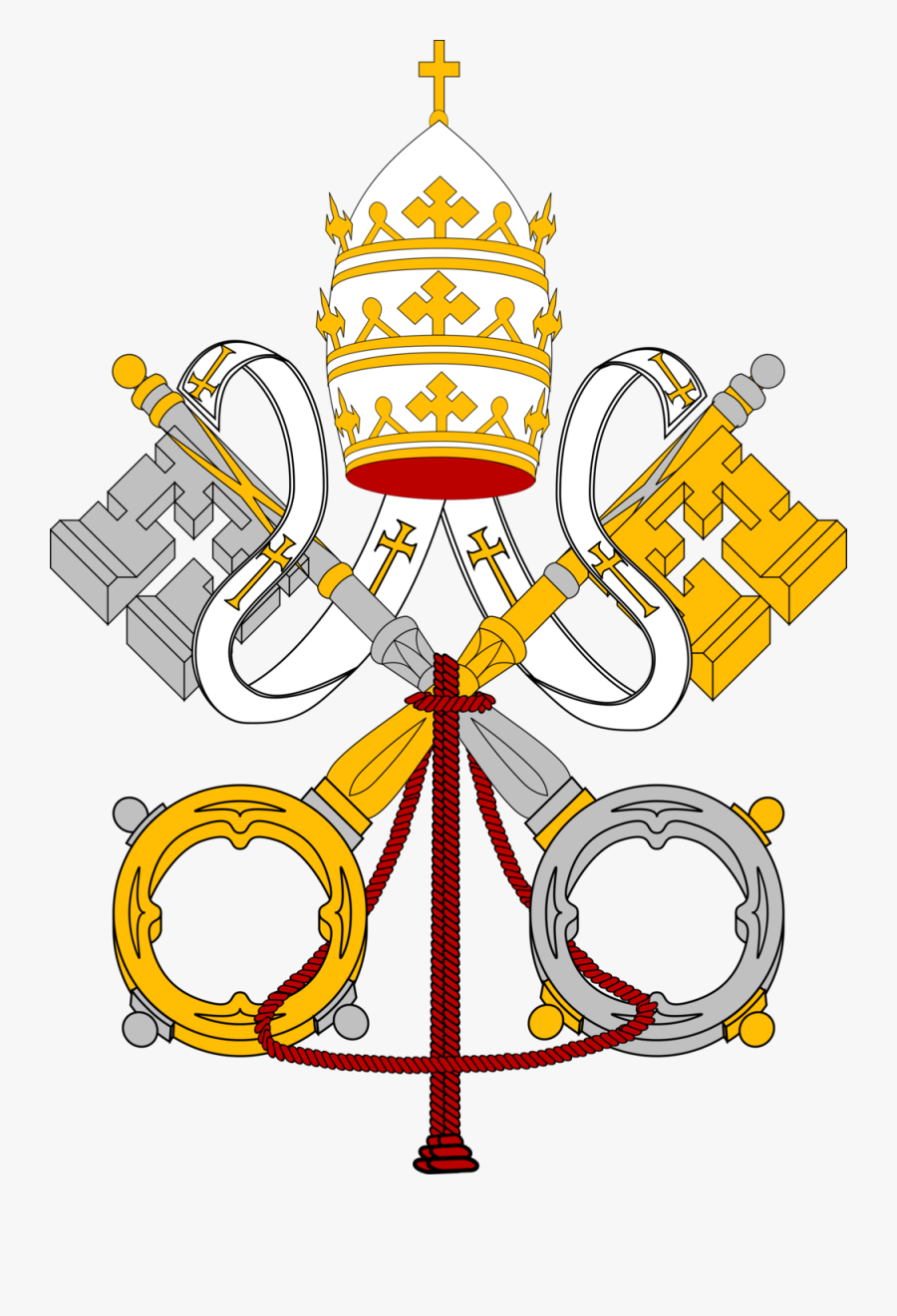 The Chatechism Of The Catholic Church St - Coats Of Arms Of The Holy See, Transparent Clipart