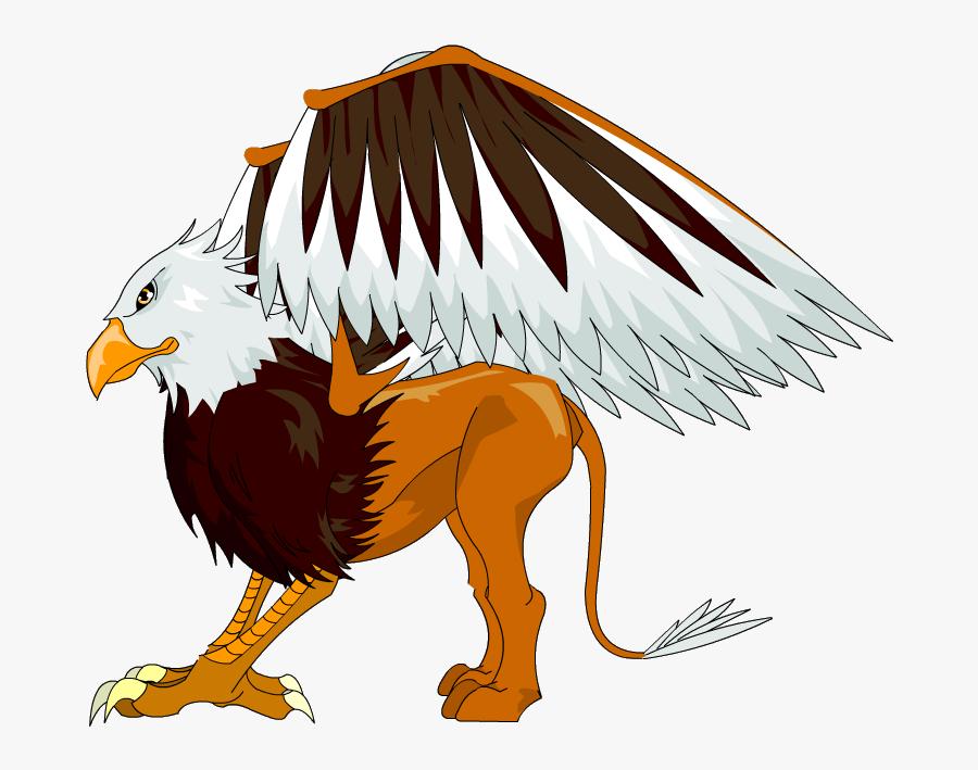 Bird,eagle,bird Of Prey,bald Figure,wildlife,sea Eagle,clip - Griffin Png, Transparent Clipart