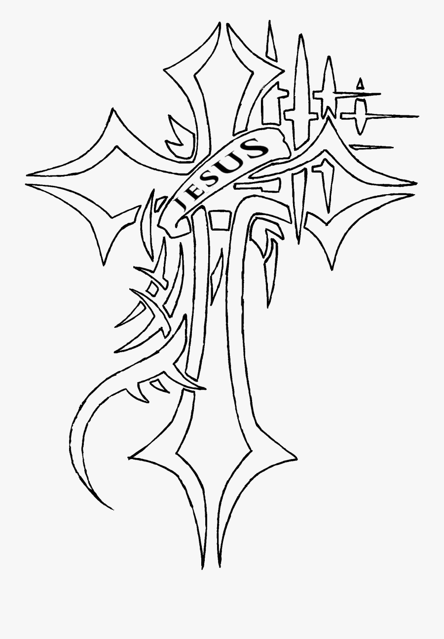 Nail Cross Drawing At Getdrawings - Drawing Of The Cross Of Jesus, Transparent Clipart