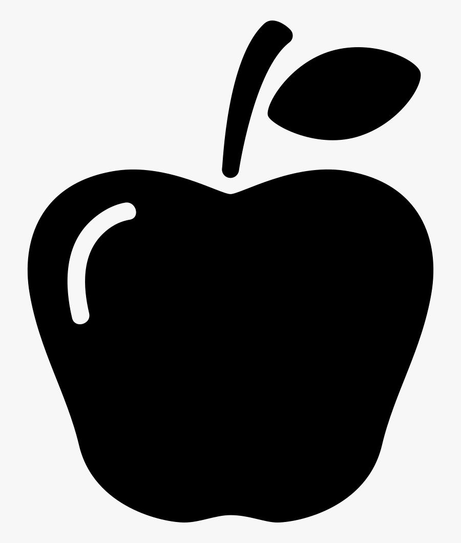 Clip Art,fruit,plant,black And Art,logo,coloring Book,produce - Apple Fruit Icon Png, Transparent Clipart
