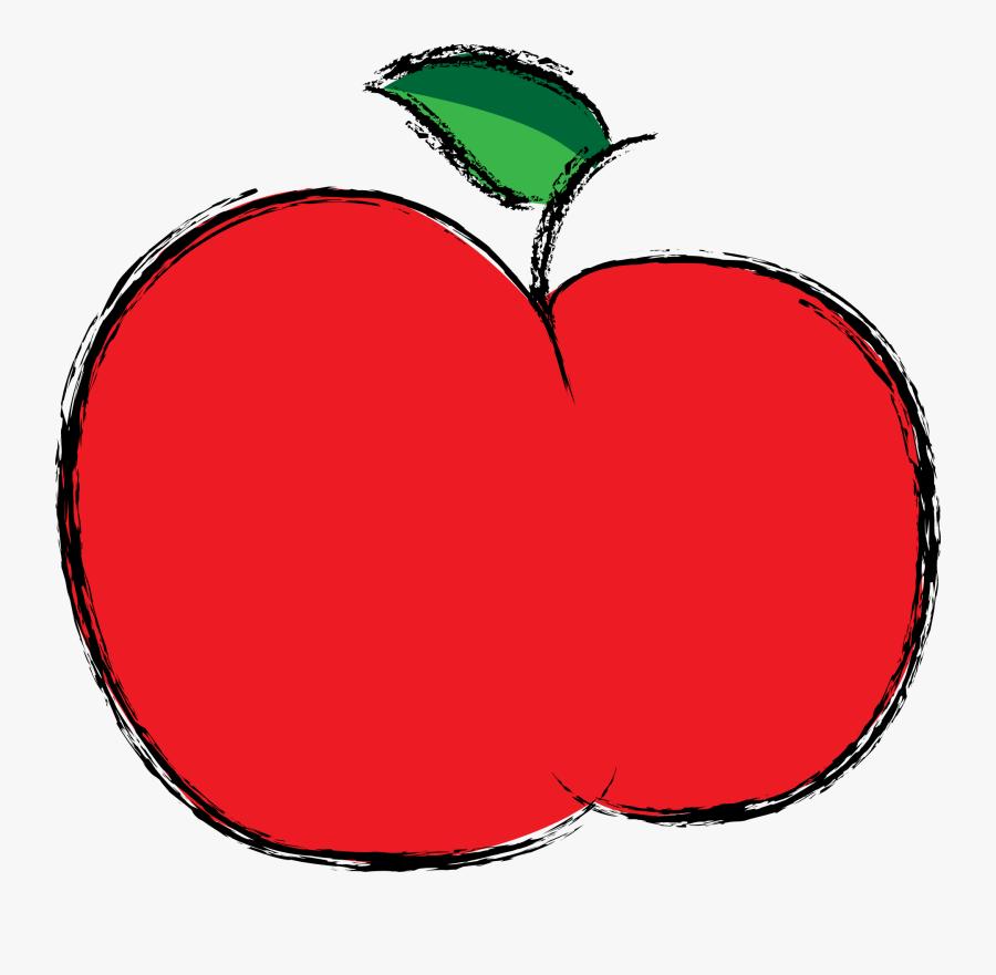 Apple People Cliparts - Apple Fruit Red Color, Transparent Clipart