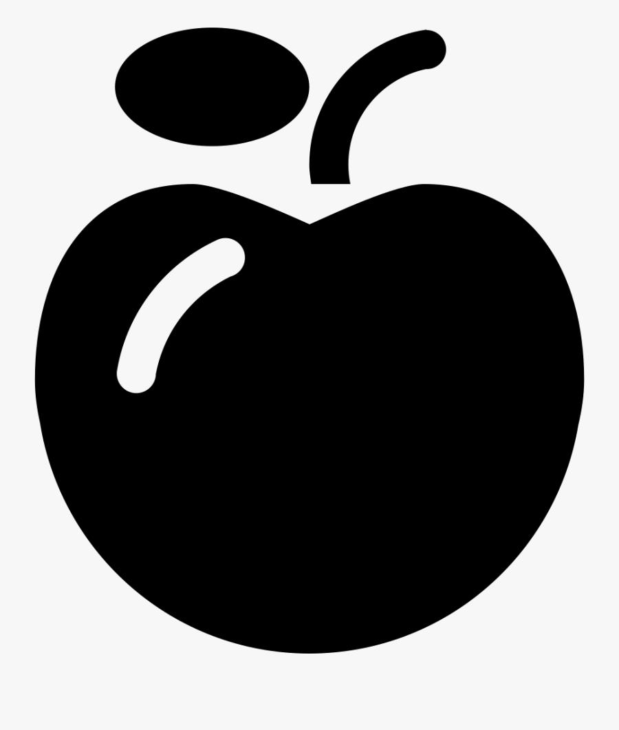 Black,fruit,clip Art,apple,plant,black And - Fruit, Transparent Clipart