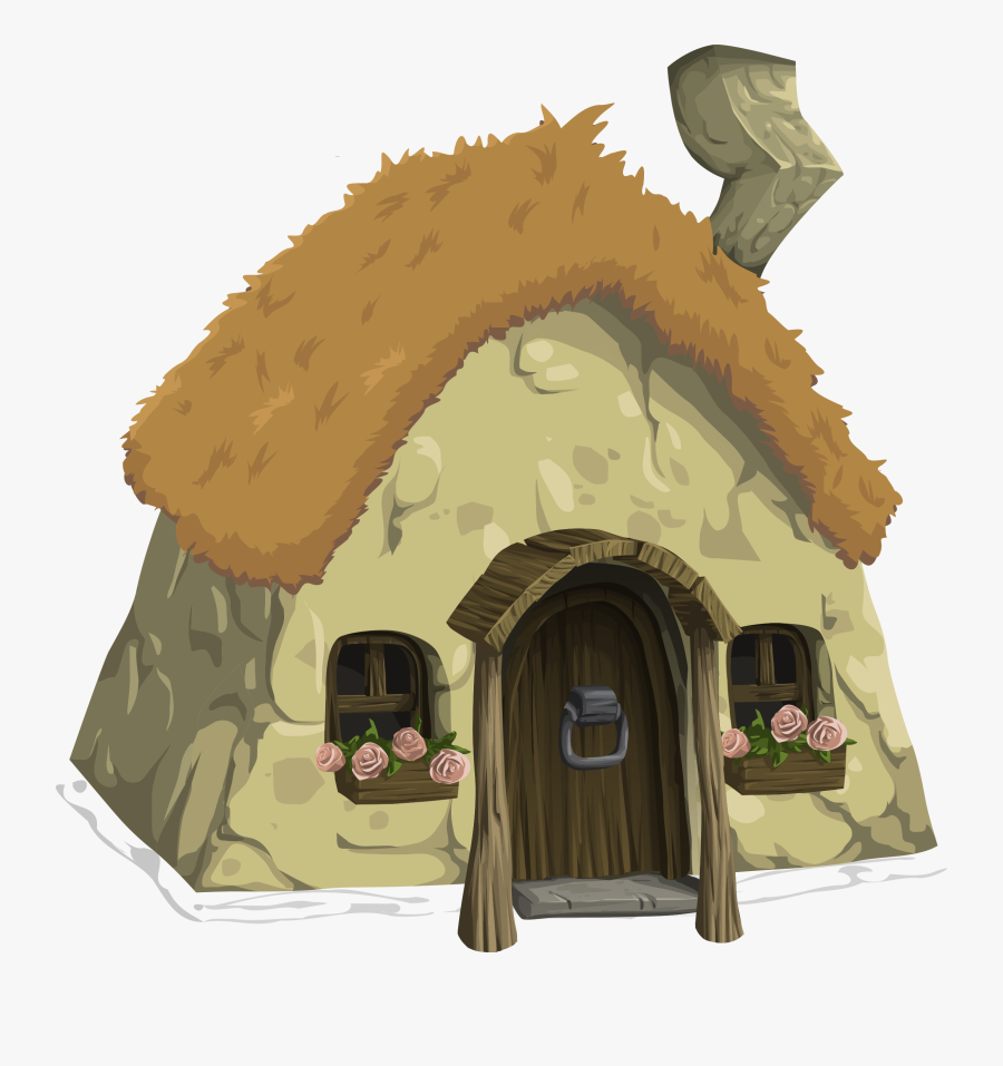 Cottage From Glitch - Thatched Roof Cottage Clipart, Transparent Clipart