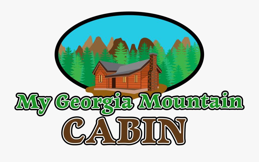 My Georgia Mountain Cabin, Transparent Clipart