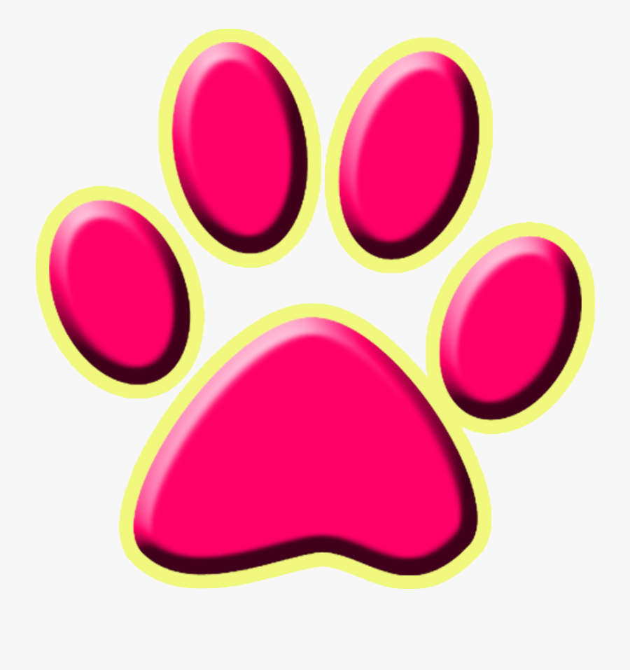 Dog Paw Cat Silhouette Printing - Transparent Cat Paw Print, Transparent Clipart