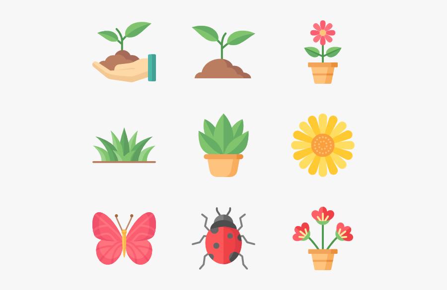 Flowerpot,leaf,clip - Plants Icon Png, Transparent Clipart
