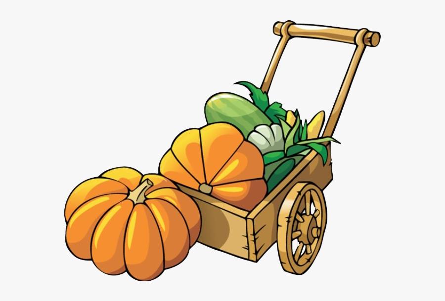 Wooden Cart Full Of Pumpkins Clip Art - Free Clipart Pumpkin Patch, Transparent Clipart
