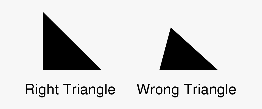 Right And Wrong Triangles - Right Triangle Wrong Triangle, Transparent Clipart
