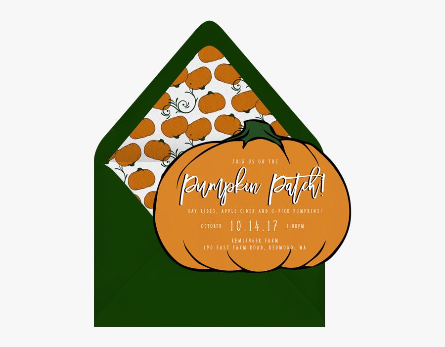 Pumpkin Patch Invitations In Orange - Pumpkin Patch Invitation, Transparent Clipart