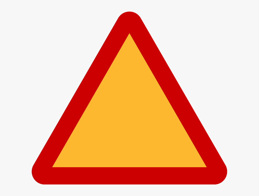 Caution Clipart Triangle - Red And Yellow Triangle Sign Meaning, Transparent Clipart