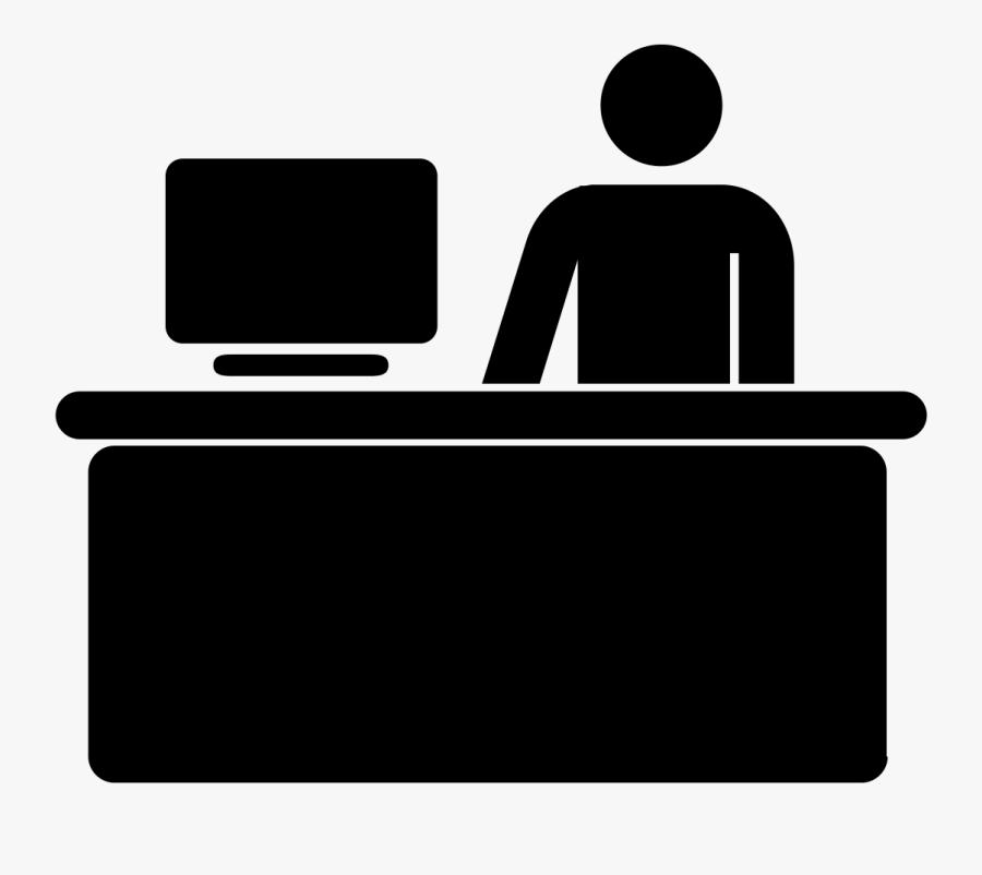 Computer Icons Help Desk Symbol Clip Art - Customer Service Desk Icon, Transparent Clipart