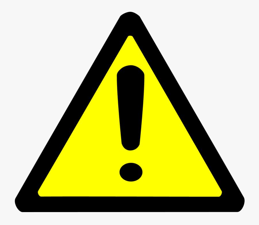 Warning Sign Clip Art At Clker - Warning Sign Png, Transparent Clipart