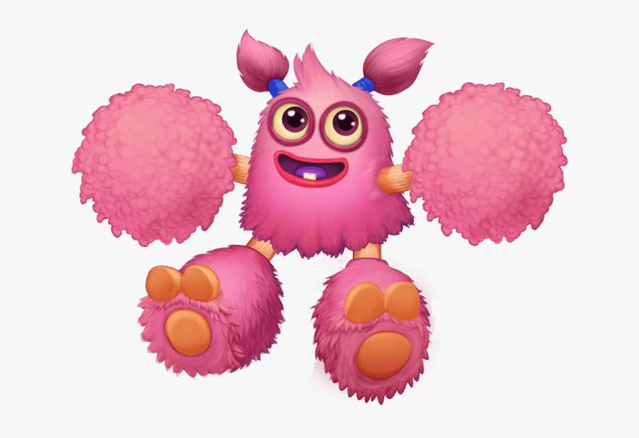 Pom Pom Baby Clip Arts - Baby Pom Pom My Singing Monsters, Transparent Clipart