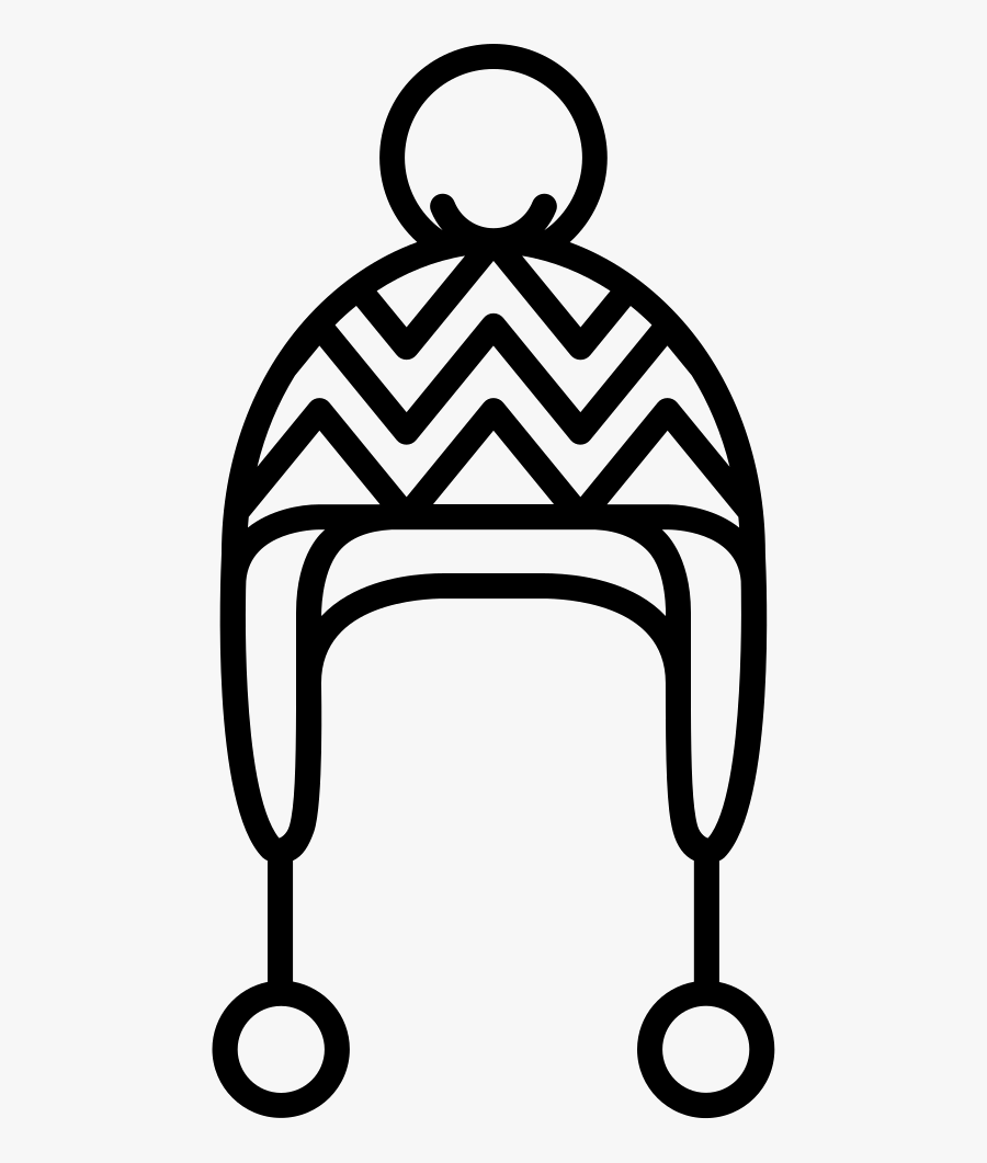 Knit Hat With Pom Pom - Knit Hat Icon Png, Transparent Clipart