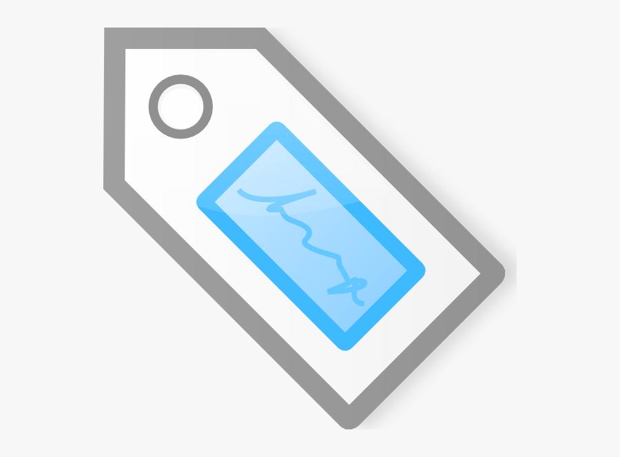 Free Vector Blue Tag Clip Art - Graphic Design, Transparent Clipart