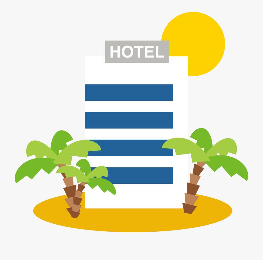Clip Art Drawing Travel Transprent Png - Hotel Cartoon Png, Transparent Clipart