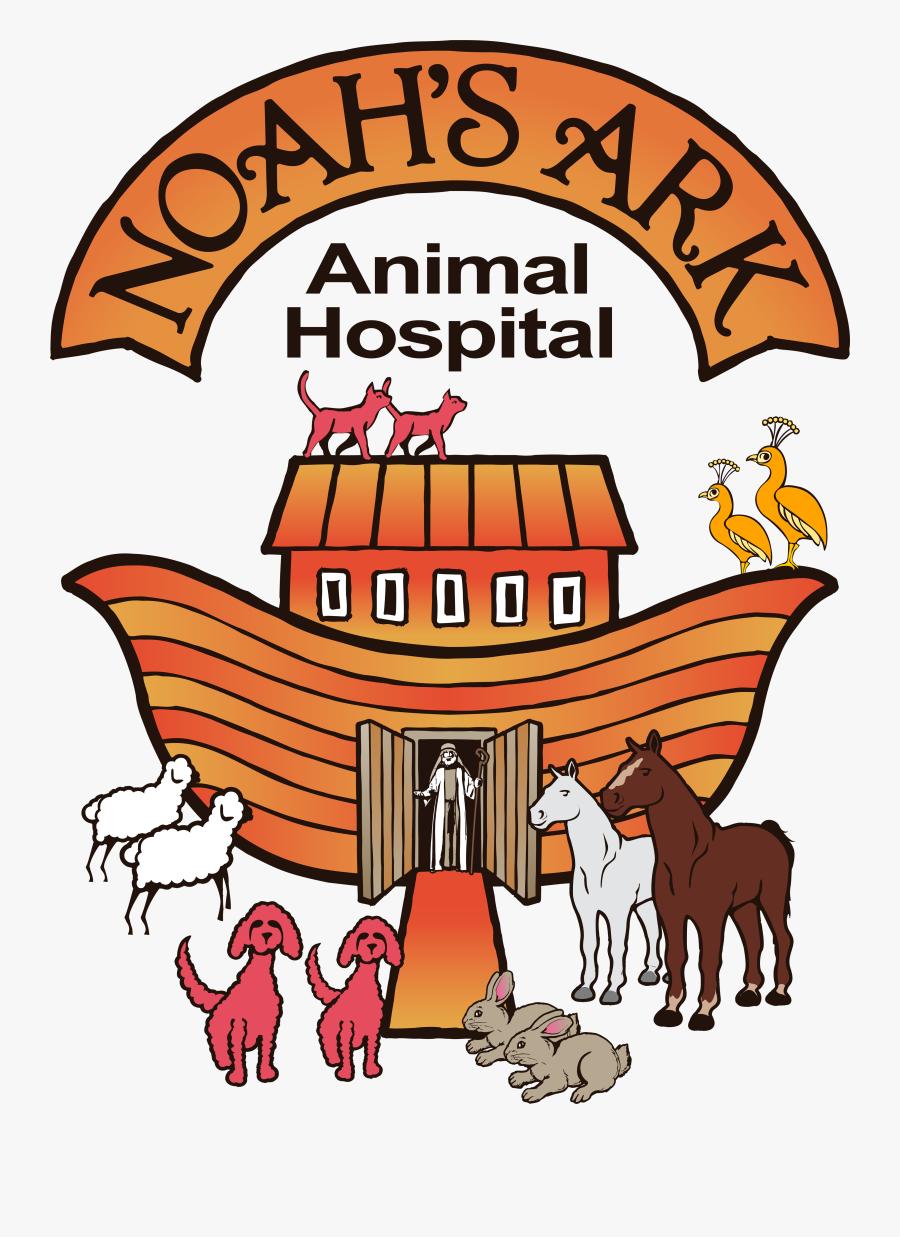 "Noah""s Ark Animal Hospital - Noah's Ark Clip Art Dog And Cat, Transparent Clipart"