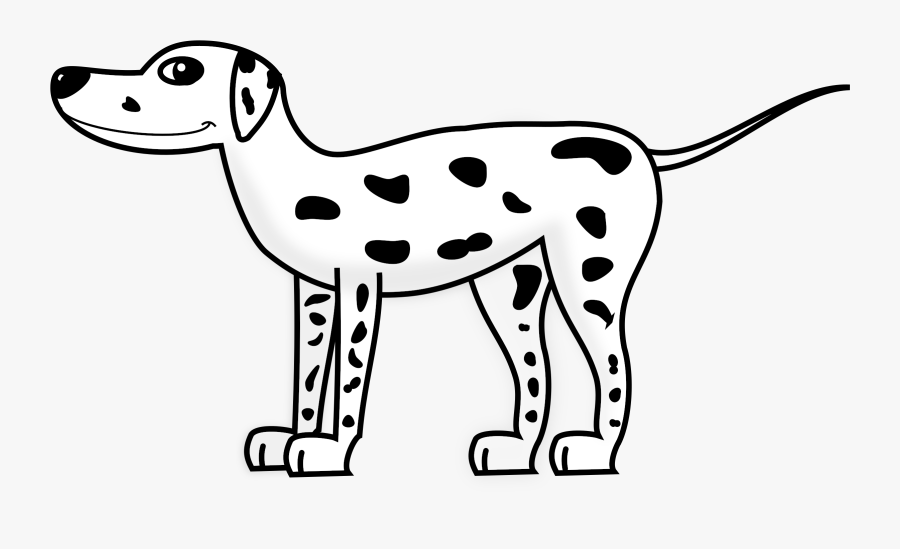 Dalmatian Dog Puppy The Hundred And One Dalmatians - Black And White Dalmatian Clipart, Transparent Clipart