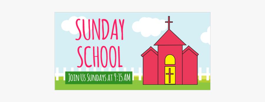 Banner Design For Sunday School, Transparent Clipart