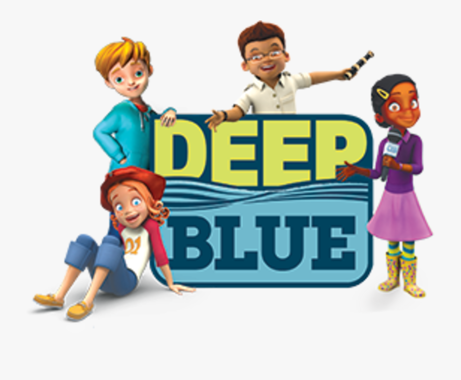 Deep Blue Kids, Transparent Clipart