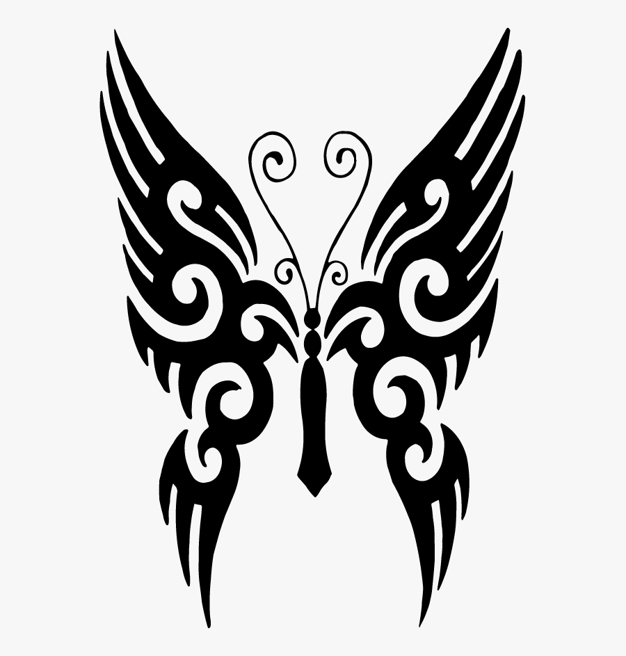 Butterfly Tattoo Designs Clipart Png - Tribal Butterfly Tattoo Png, Transparent Clipart