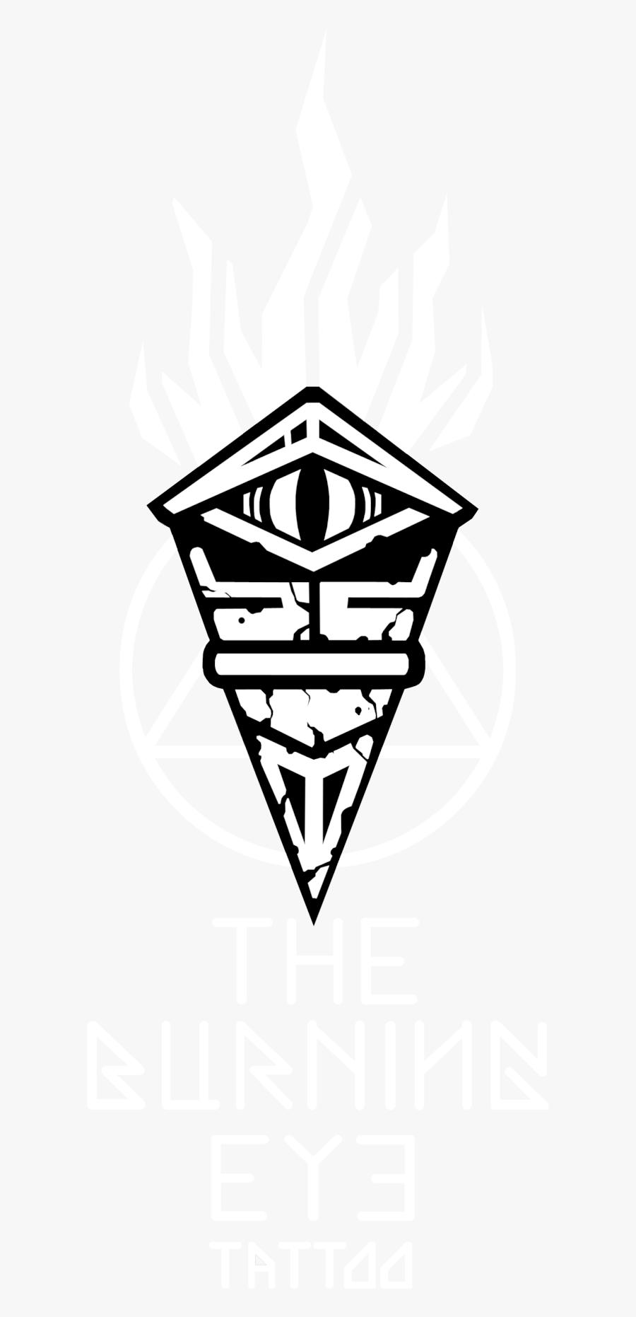 Old School Eye Tattoo, Transparent Clipart