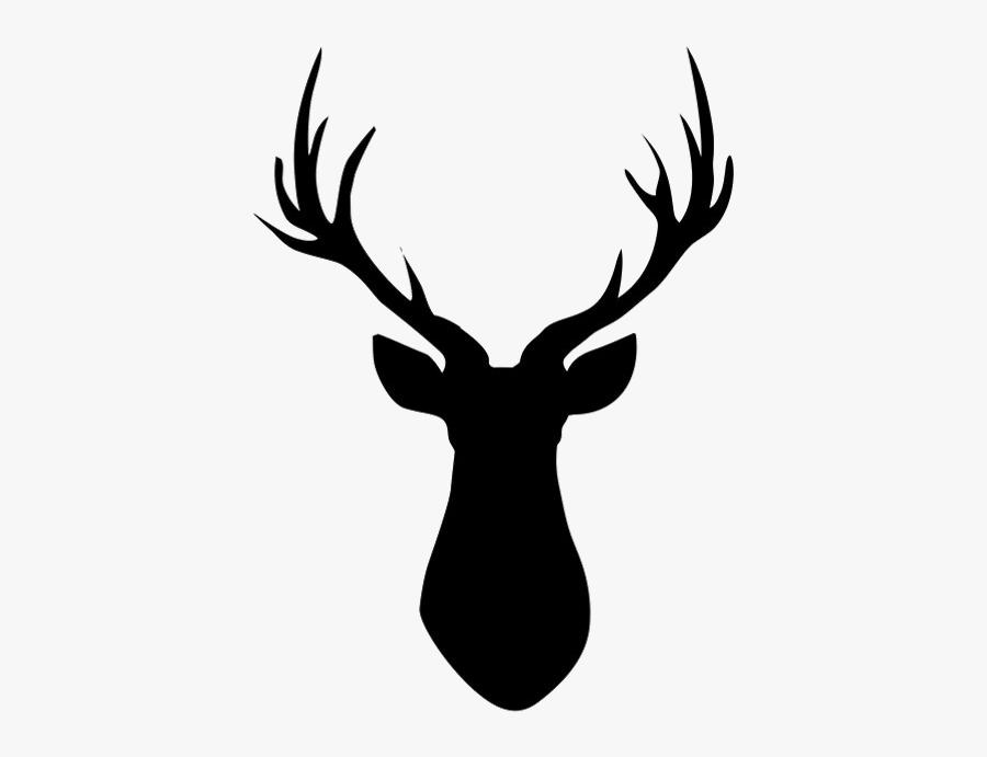 Reindeer Silhouette Clip Art - Deer Head Drawing Easy, Transparent Clipart