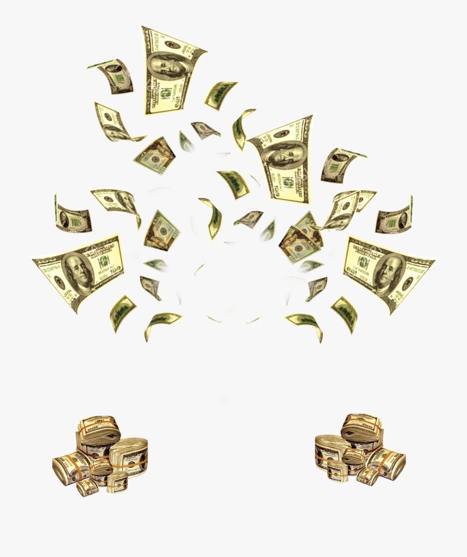 Money Flying Cash Clip Art , Png Download - Money Gold Flying Png, Transparent Clipart