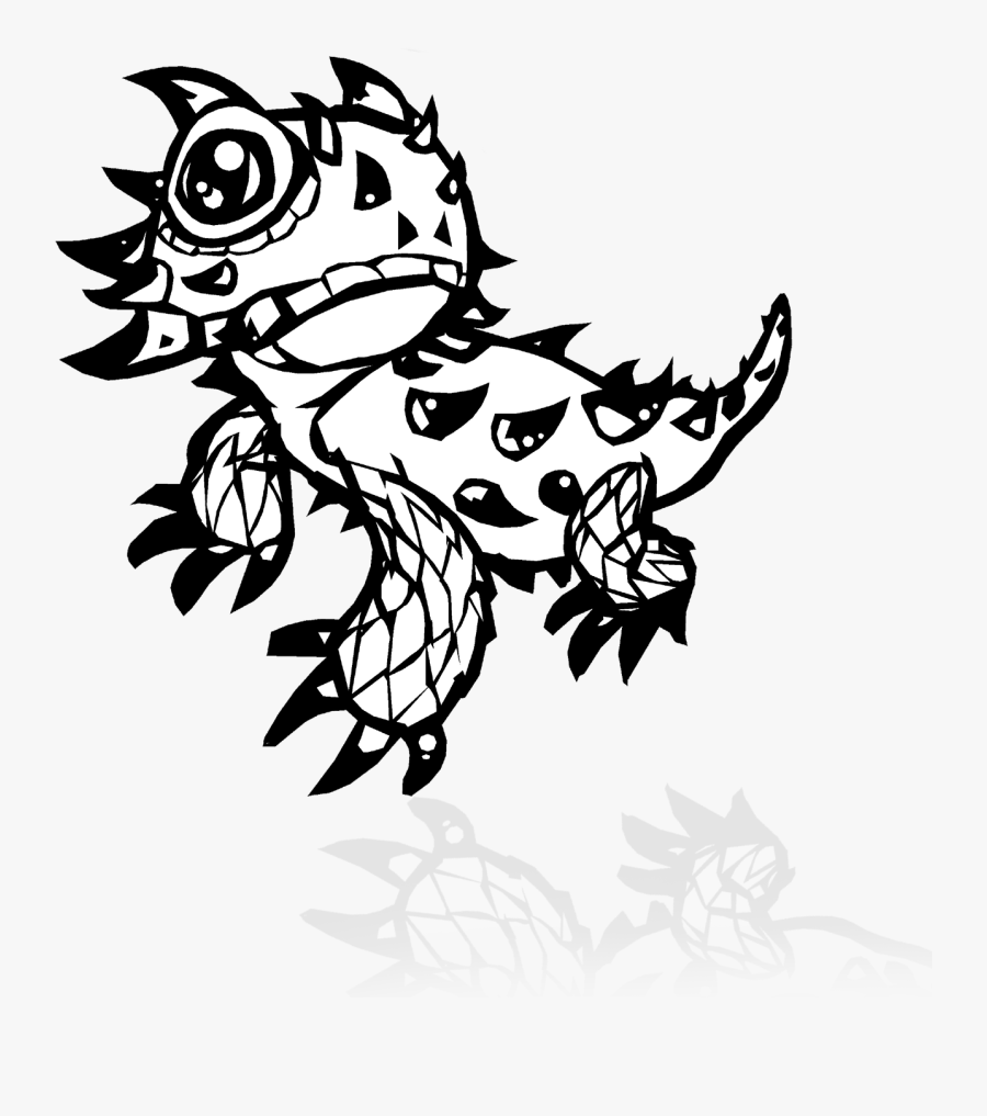 Transparent Lizard Clipart Black And White - Texas Horned Toad Drawing, Transparent Clipart