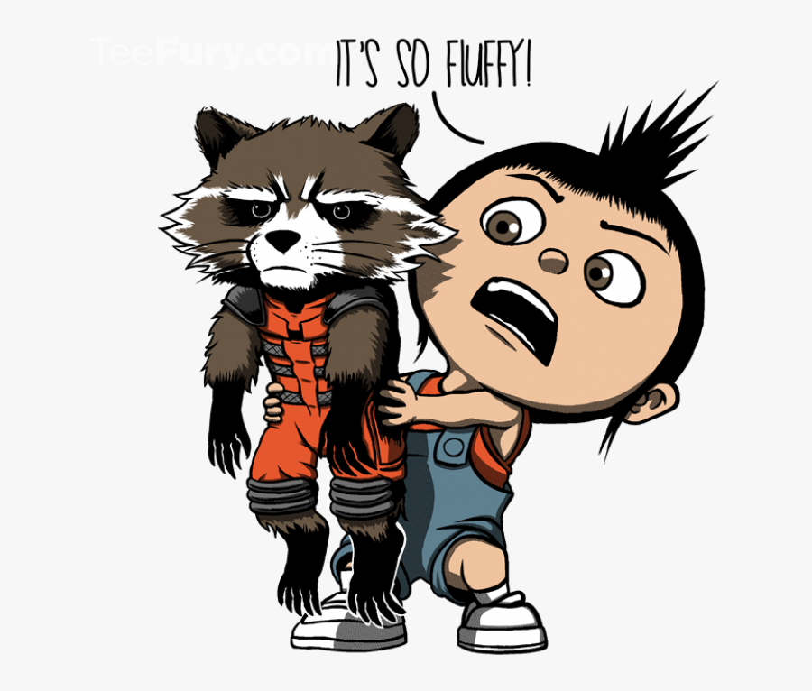 Fluffy Lil Guardian Gardens Of The Galaxy, Marvel Dc - Guardians Of The Galaxy Funny Comics, Transparent Clipart