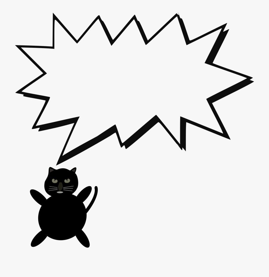 Clipart - Speech Bubble With Cat, Transparent Clipart