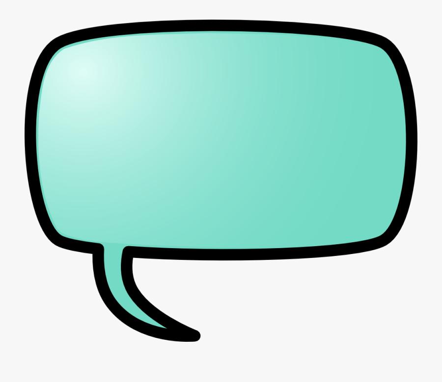 Color Speech Bubble Vector Illustration Public Domain - Clipart Callout, Transparent Clipart