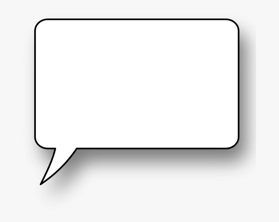 Free Speech Bubbles - Transparent Background Square Speech Bubble Png, Transparent Clipart
