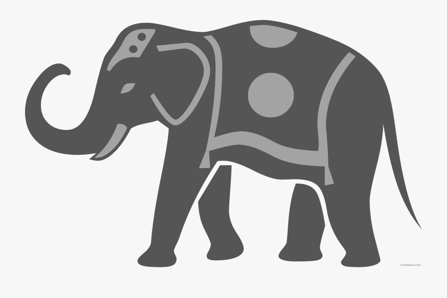 African Elephant Elephants Clip Art Silhouette Image - Indian Elephant Clipart, Transparent Clipart