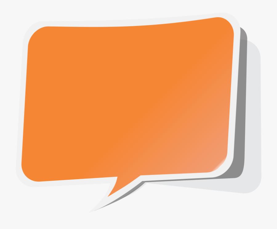 Speech Bubble Clipart Orange - Callout Bubble Vector Png, Transparent Clipart