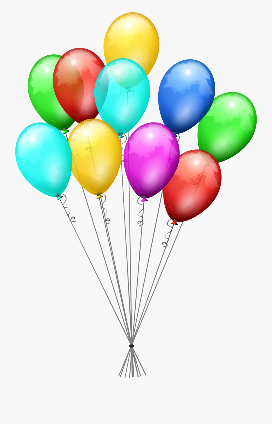 Birthday Baloons Png - Birthday Balloon Clipart Transparent Background, Transparent Clipart