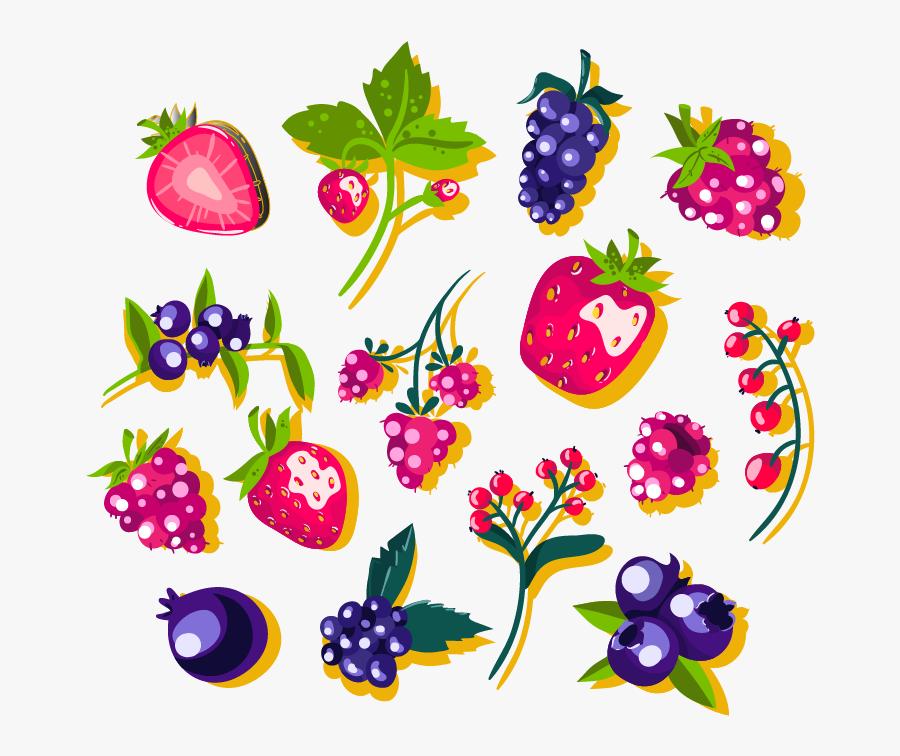 Clip Art Cartoon Berries - Cartoon Berries Png, Transparent Clipart