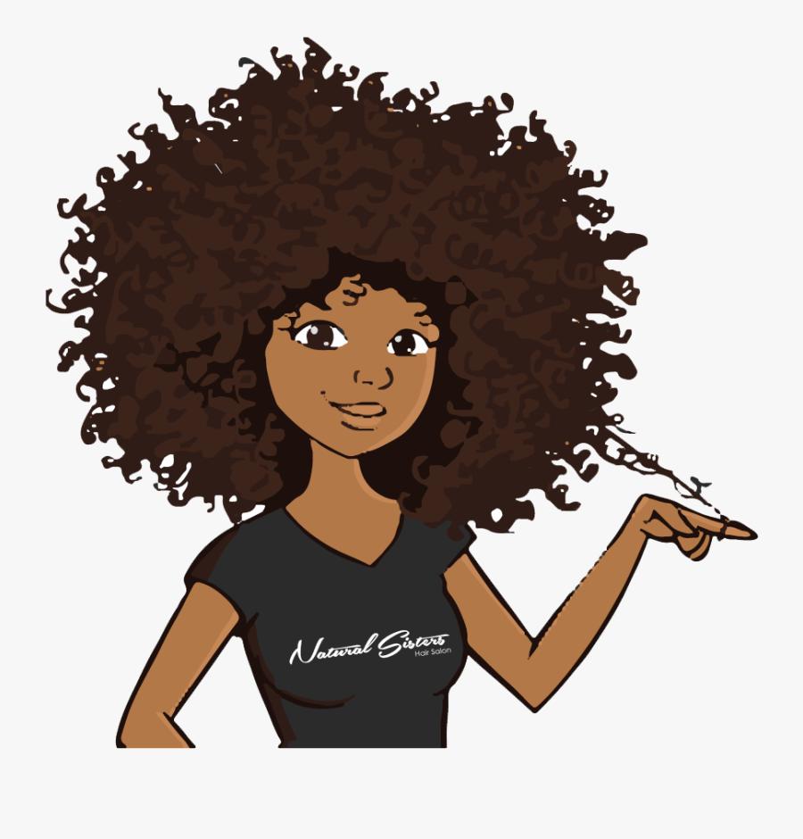 Black Girl Natural Hair Cartoon Free Transparent Clipart Clipartkey