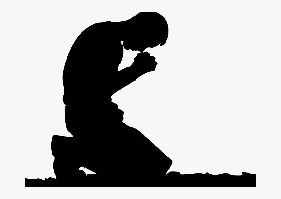 Prayer Hands Kneeling God Clip Art Transprent - Prayer On Knee Png, Transparent Clipart