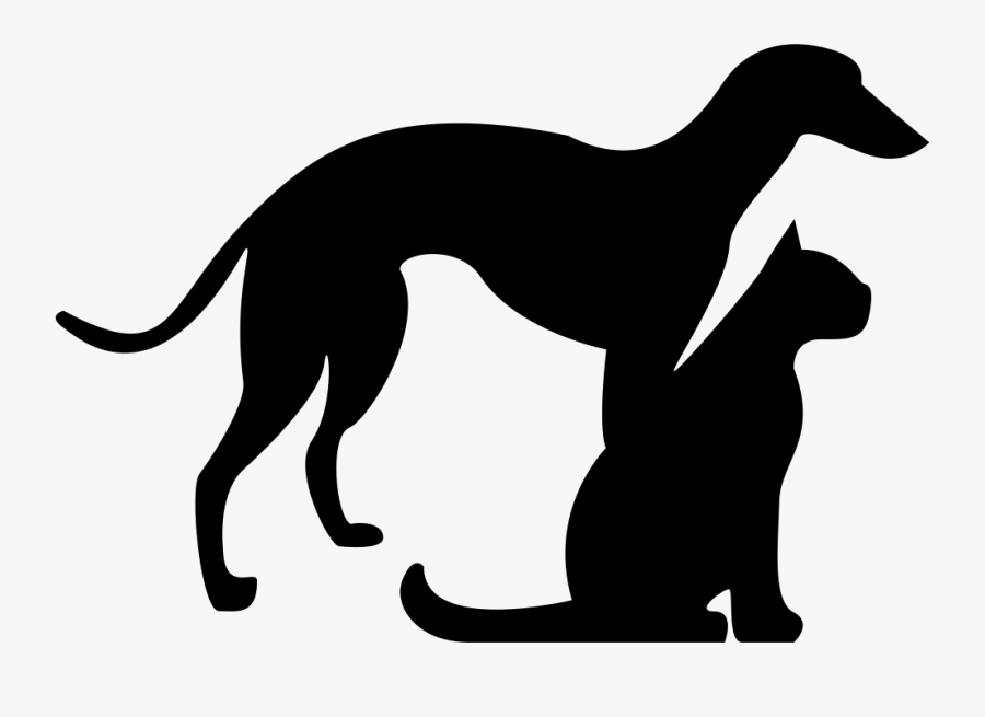 Transparent Cats And Dogs Clipart - Dog And Cat Silhouette Png, Transparent Clipart